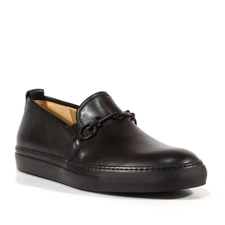 Cesare Paciotti Mens Shoes Dan Calf Soft Black Leather Loafers (CPM3138)