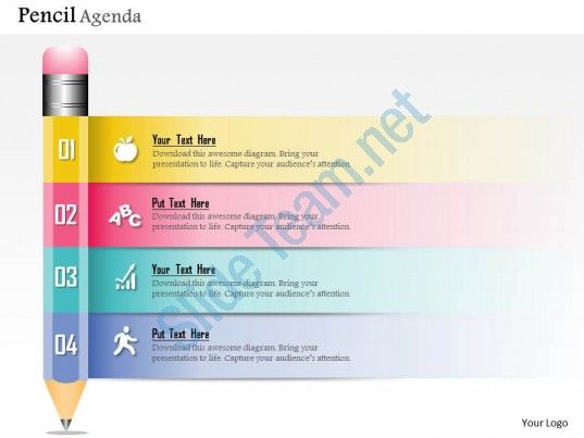0914 business plan new pencil diagram agenda powerpoint presentation template Slide01