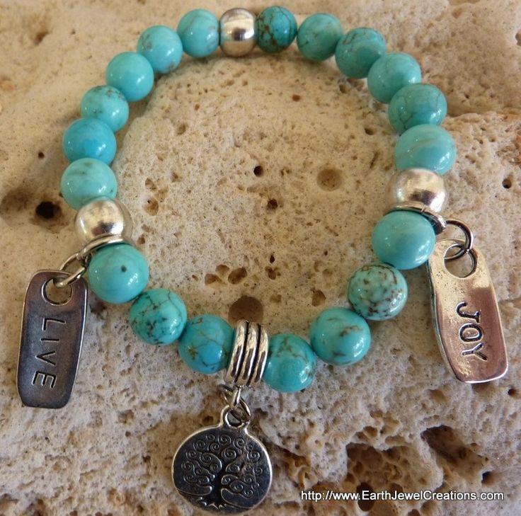 Turquoise Clarity Bracelet - Inspirational handmade gemstone jewellery Earth Jewel Creations Australia