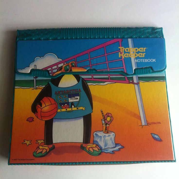1992 Mead Trapper Keeper Antarctica Crew Penguin -New- Matching Folder #Mead