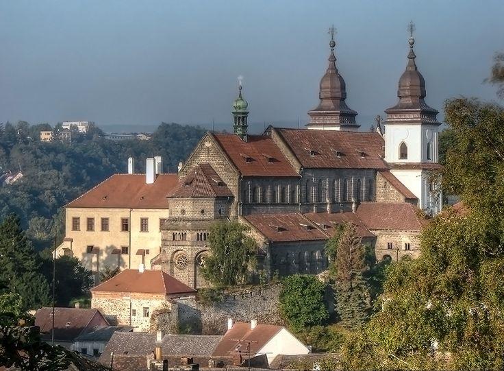 klášter benediktinů s kostelem Nanebevzetí Panny Marie (sv. Prokopa ).  UNESCO. Bazilika byla vystavěna v 1.pol. 13. st. jako součást benediktinského kláštera založeného r. 1101 moravskými Přemyslovci. Mesto Třebíč