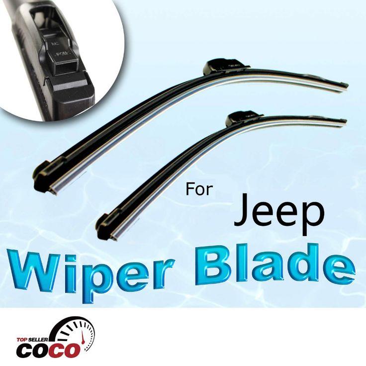 "2PCS 18""+18"" Driver Passenger wiper blade BRACKETLESS WINDSHIELD WIPER BLADE WIPER type wiper arms  For JEEP COMMANDER 2006-2010 #Affiliate"
