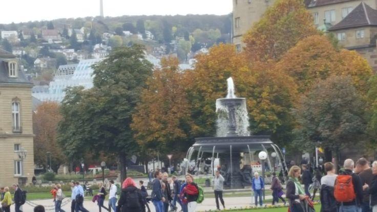 Schloßplatz im Herbst- Mitte Oktober