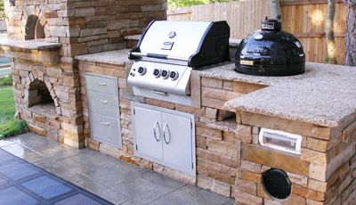 Built in island with smoker.