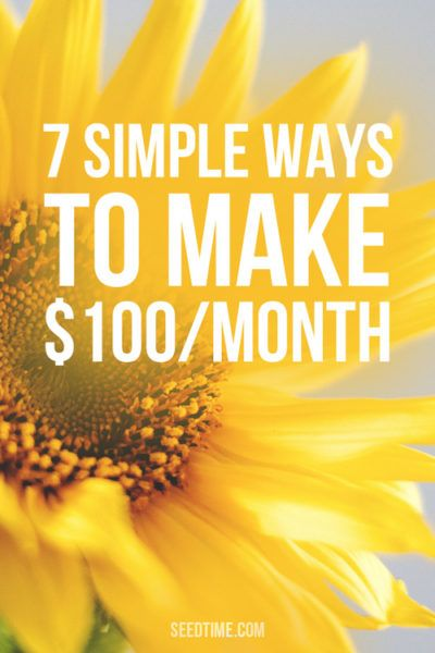 Some easy and great ways to make $100 this month