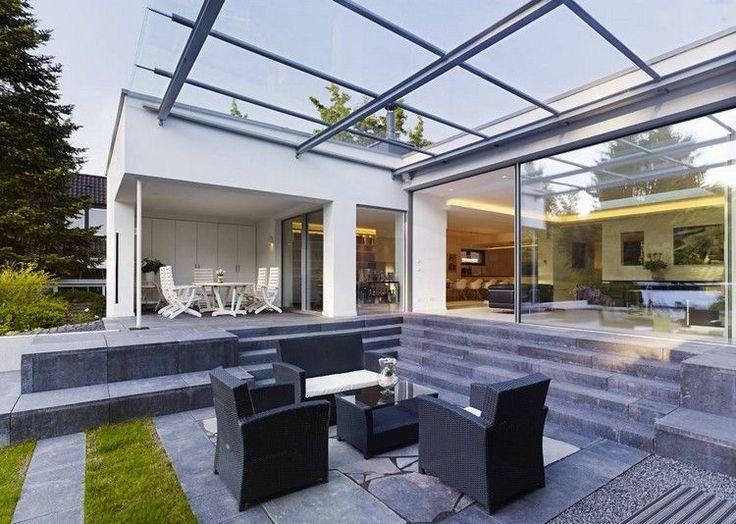 protection solaire en plexiglasse pour la terrasse extérieur