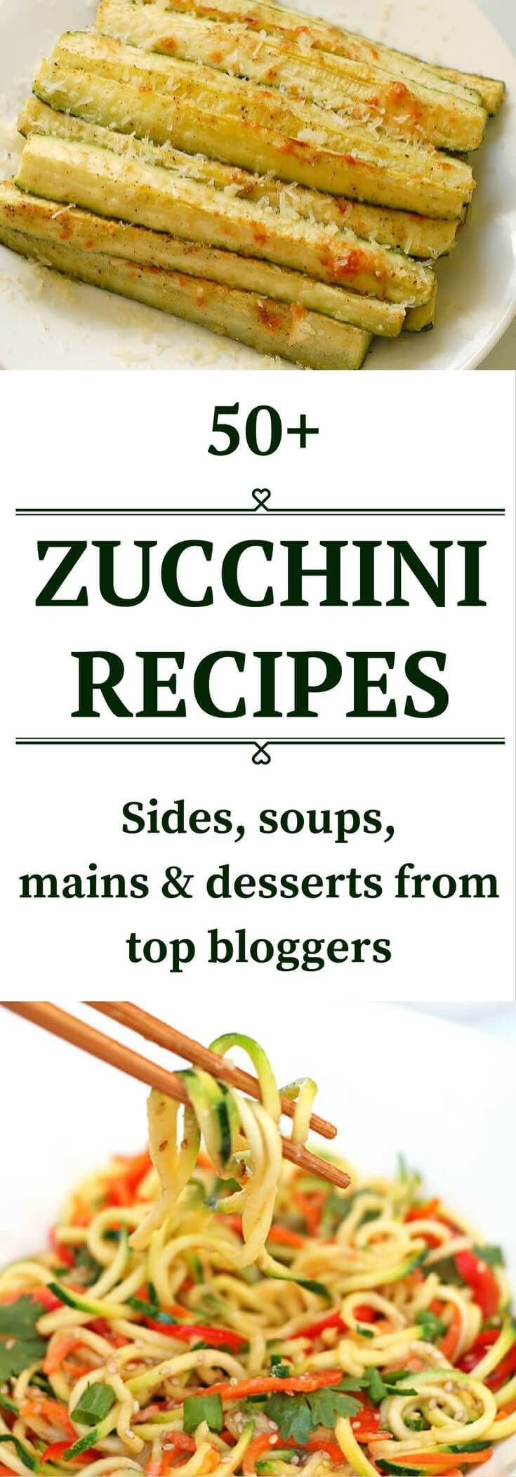 Zucchini recipes. Great ideas for your surplus zucchini from top bloggers. Click…