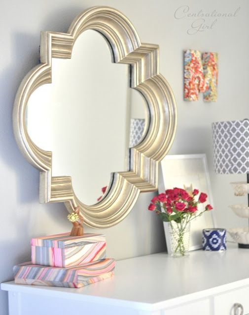 Eight tips for Renters (or for anyone) That won't break the bank!  Great idea, paint old mirror frame