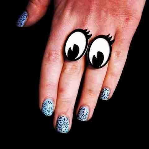 A playful pair of cartoon eyed rings created by non other than Tatty Devine. Both rings are adjustable so they'll fit any fingers. You could even give someone the eye by sharing them as in having one ring each $44.95