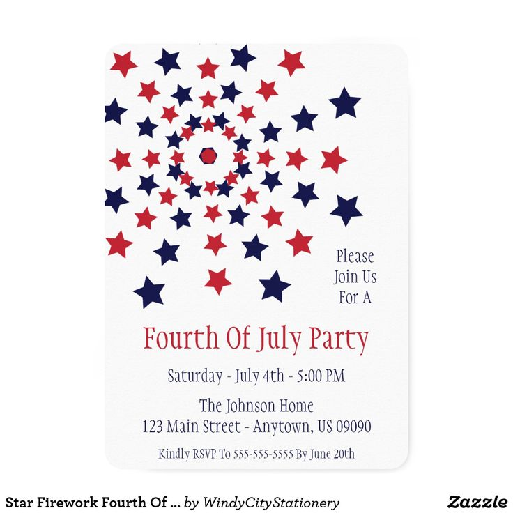112 best 4th of July Invitations images on Pinterest | Party ...