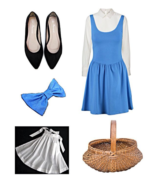 DIY Belle Blue Dress Costume