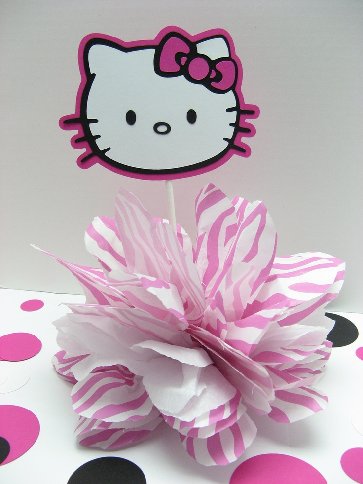 hello kitty baby shower | Hello Kitty pompom baby shower decoration by missdaisyw on Etsy ...