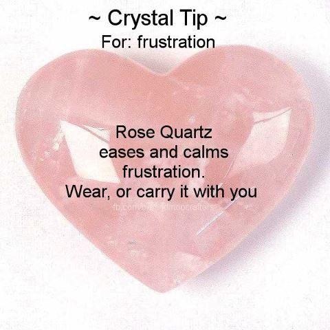 For frustration. Rose Quartz healing Crystal