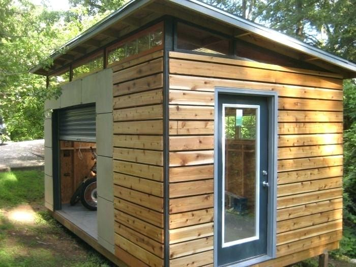 Studio Shed With Bathroom Pertaining To Prefab Modern Sheds And Modern Shed Building A Shed Shed Design