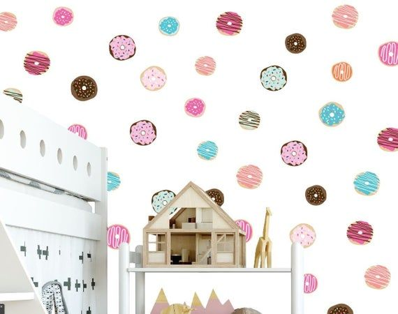 Doughnuts Wall Decals Kids Room Wall Decal Kids Room Decor Doughnuts Wall Decor Doughnut Wall Stickers Removable Wall Stickers