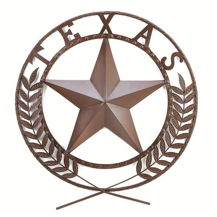 Legend has it that everything's bigger in Texas... even the stars! Magnificent wall wreath is a fun and unique way to declare your love for the Lone Star State boldly styled and richly detailed in cho