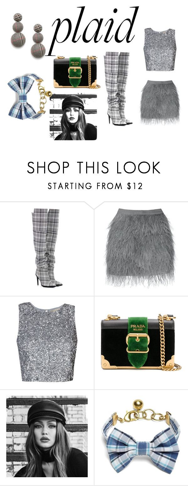 """""""Sem título #616"""" by jssanfer ❤ liked on Polyvore featuring Off-White, Prada, Maybelline and Brooks Brothers"""