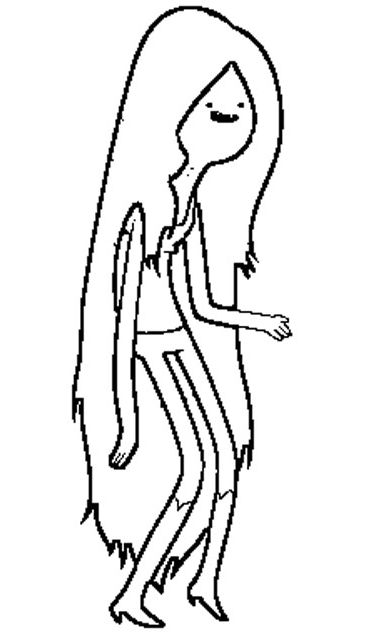 Adventure Time Marceline Coloring Pages  Adventure Time cartoon