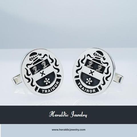 Trainor family crest cufflinks