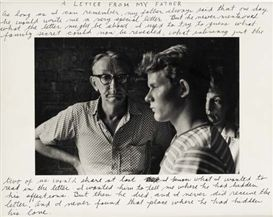Artwork by Duane Michals, A Letter from my Father, Made of Gelatin silver print, with ink.