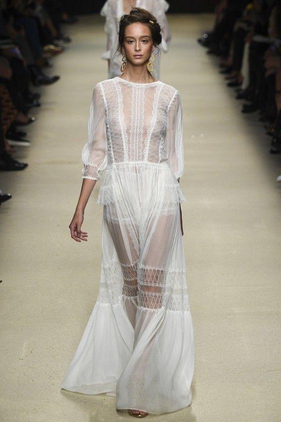 Alberta Ferretti Spring Summer 2016 Full Fashion Show Кружевное воздушное платье 2016[runway]