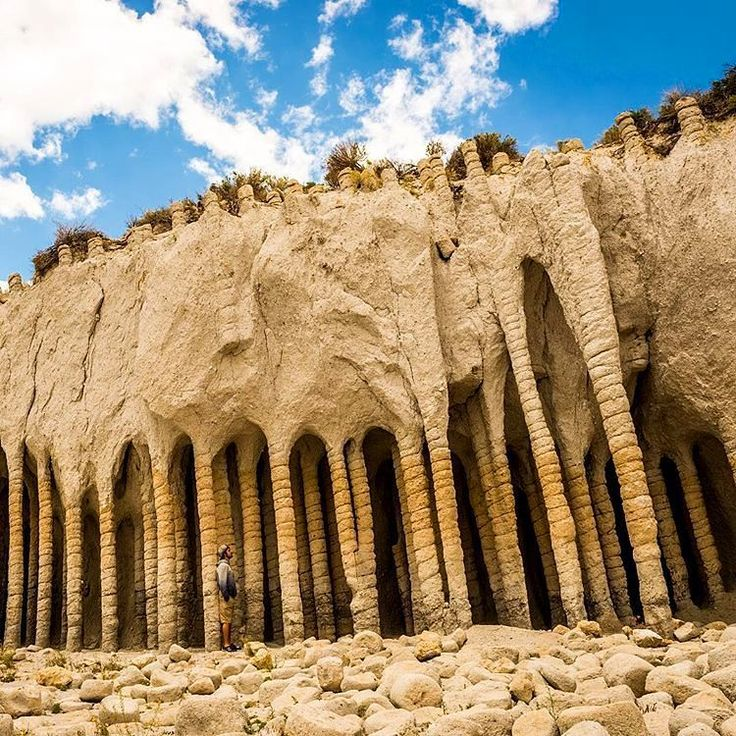 Hidden gem - Crowley Lake Columns, Eastern California. Truly unique and beautiful place to enjoy the silence and peace. The caves and columns extend along the shoreline but takes some effort to get to them.