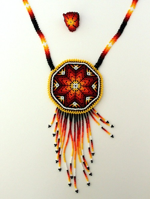 Huichol mexican necklace spring summer 2013