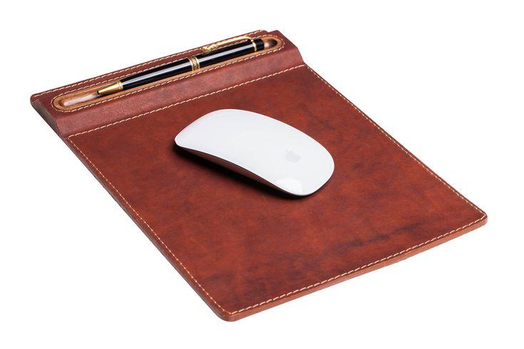Leather & walnut mouse pad, desktop, mouse pad