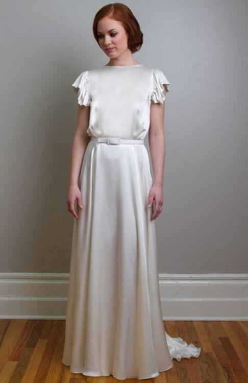 Vestido de novia años 20, una maravilla. Me recuerda a Katherine Hepburn.