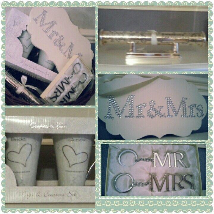 Mr and Mrs Wedding Hamper, made to order. Visit www.bespokebabyhampers.co.uk  #mr&mrs #wedding #hamper #giftideas