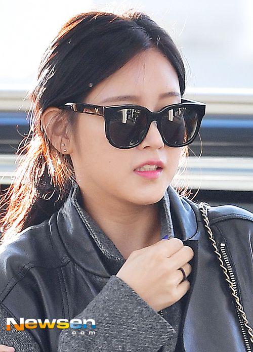 티아라 소연 '오동통해진 얼굴이 더 귀여워~'(공항패션)