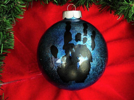 Grateful Dead Christmas Ornament.Jerry Garcia Hand Print Ornament Grateful Dead Christmas