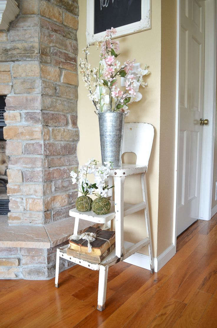 403 best primitive decorating ideas images on pinterest simple spring decor in the living room