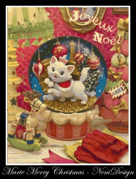 cross stitch pattern cross stitch Marie Merry Christmas
