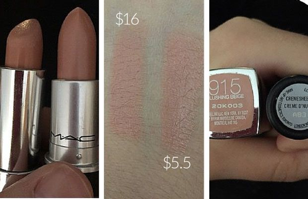 MAC Creme D'Nude Dupe | Maybelline 'Blushing Beige'