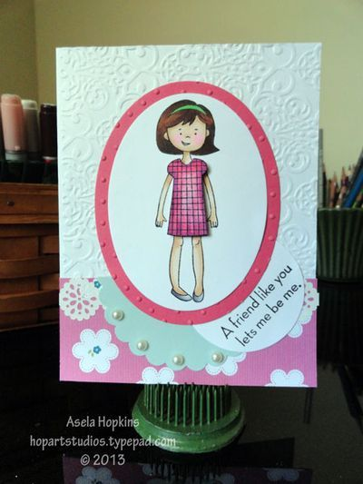 Stampin' Up! Stylin' Girl card design: Girls Cards, Card Designs, Kids Cards, Stampinup Cards, Cards 2014, Cards Designs