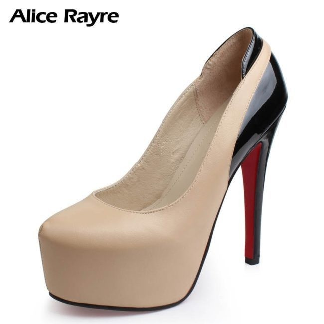 Hit color super high heels thick crust platform shoes ...