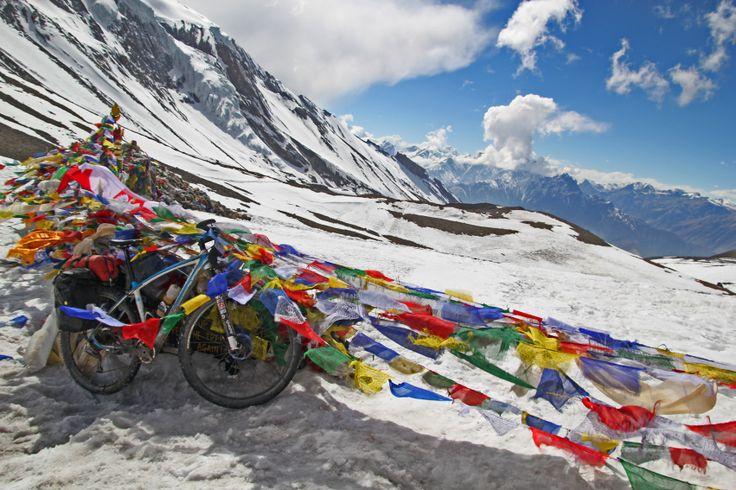 Cycling Annapurna Circuit. Nepal 2014 Przełęcz Thorung La 5419 mnpm