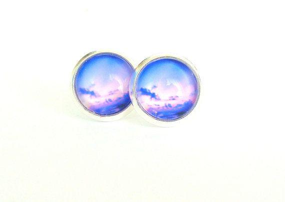 Sky Stud Earrings by CarolinePrecjoza on Etsy