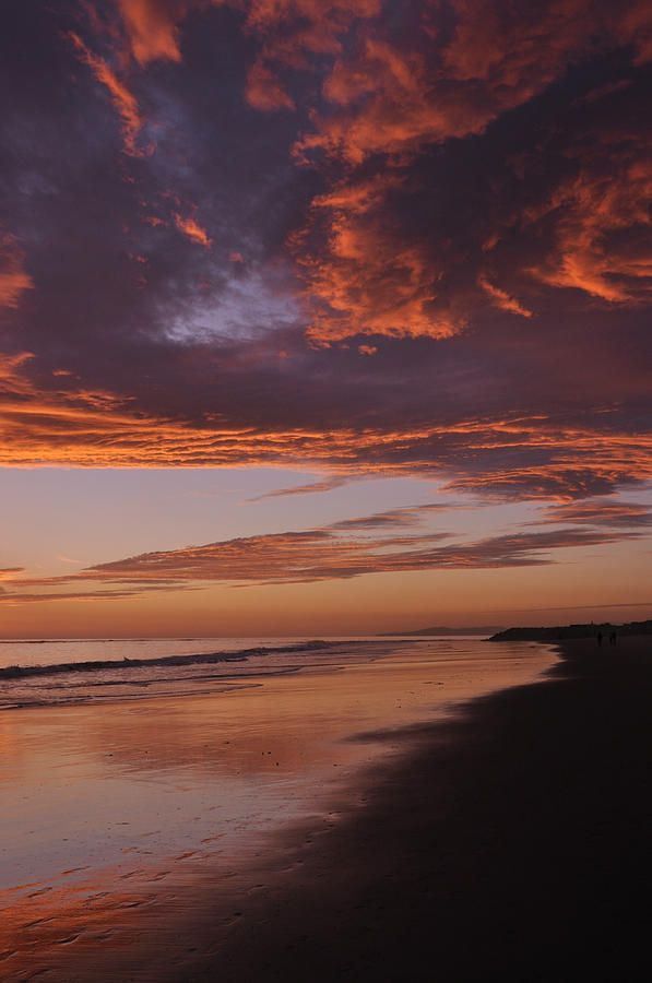 This dramatic sunset appeared like fire in the sky along the coast of California at Carpinteria Beach. It was majestic, breathtaking, and so completely spiritually uplifting.