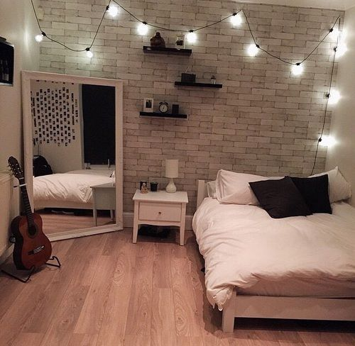 Like the brick wall effect and the large mirror on the floor