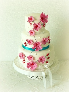 Bruidstaart door @Almie's Bakery (www.almiesbakery.nl)