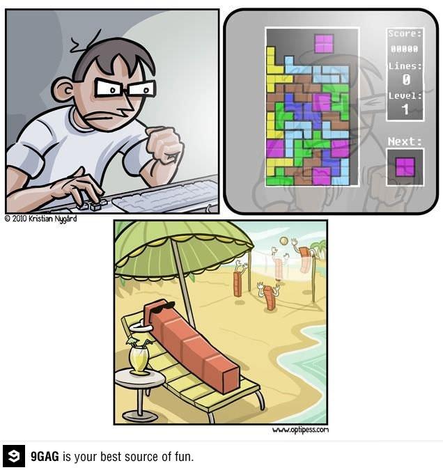 9GAG - Every time I play tetris