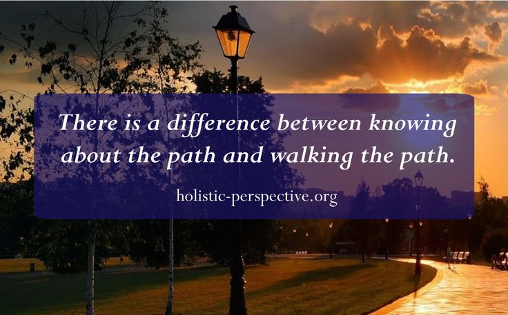 Theory of Holistic Perspective | Walk the path
