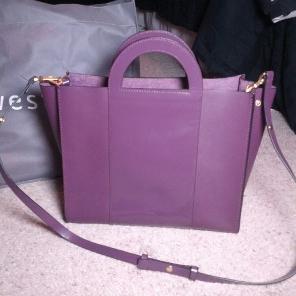 CLOSET CLOSING! Kate Spade Saturday Tote This is a beautiful bag from Kate Spade Saturday! It is a gorgeous eggplant Shade, has snap closures and brushed gold details. Excellent condition, except for a few small marks on the bottom of the bag as you can see. Kate Spade logo on the front as well as inside.  Also, willing to trade for another Kate Spade bag. But you must have 100% positive trade feedback. kate spade Bags