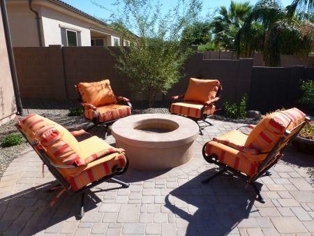 Club Chairs Sitting Around The Fire Pit. Phoenix ArizonaClub ChairsFire  PitsIronPatio