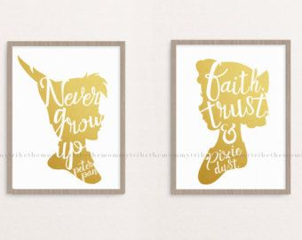 Peter Pan vivero Decor descarga Digital por TheMommyTribe en Etsy