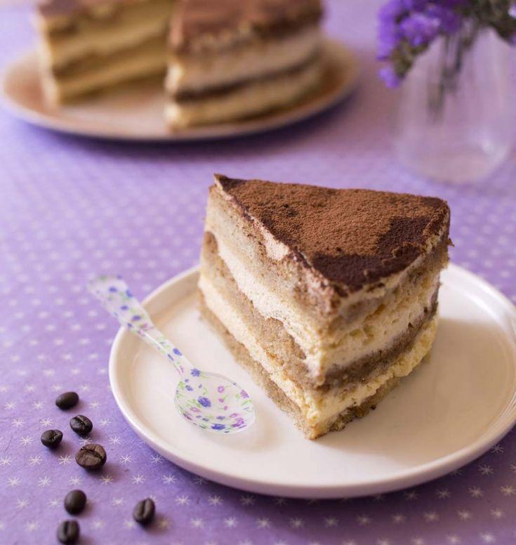 Layer cake tiramisu (gâteau à étages) - les meilleures recettes de cuisine d'Ôdélices