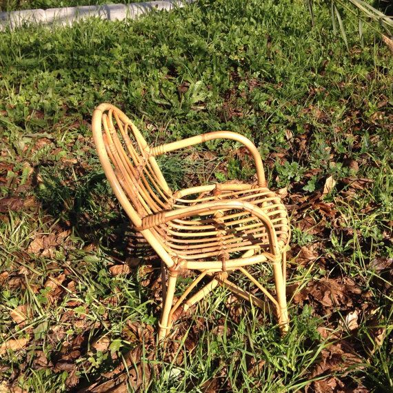 Vintage Bamboo and Rattan child's chair; Restored Bamboo Lawn Garden children's chair; Kids chair from the 1960s Christmas gift