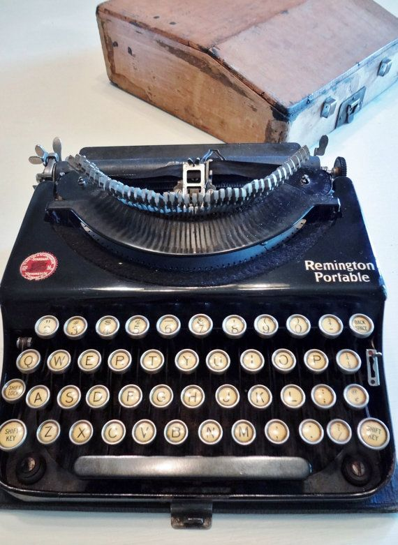 1920s Remington Portable Typewriter with Case by tripletmom2, $190.00